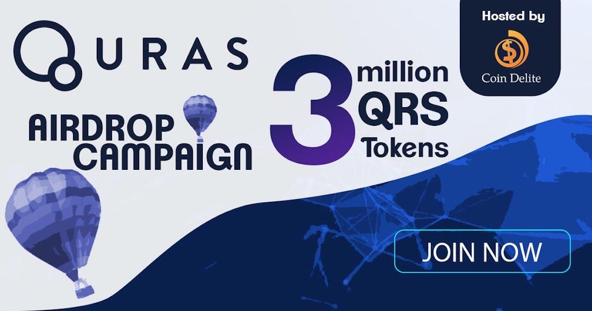 Quras空投40个QRS,价值 12 USD