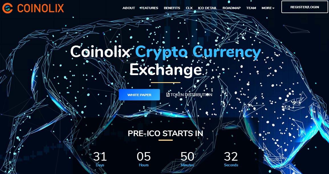 coinolix空投40个CLX,价值 10 USD