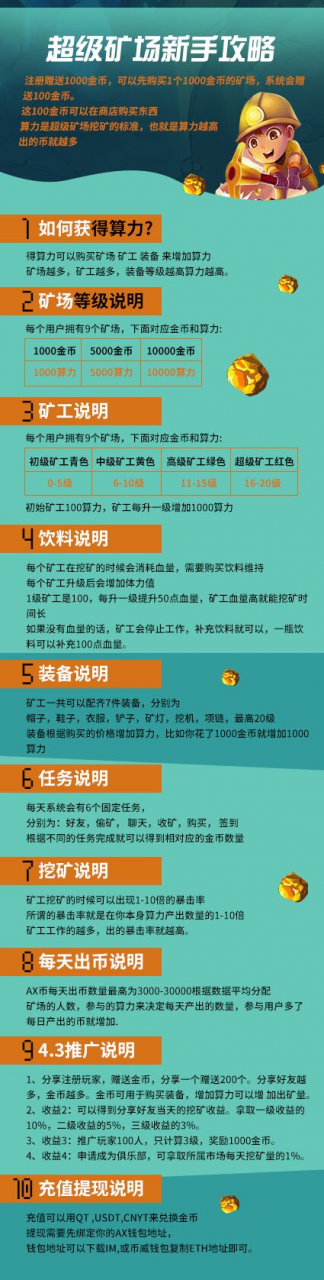 【恢复注册】超级矿场 - 注册送1000金币,邀请送200金币,后期上Q网交易所