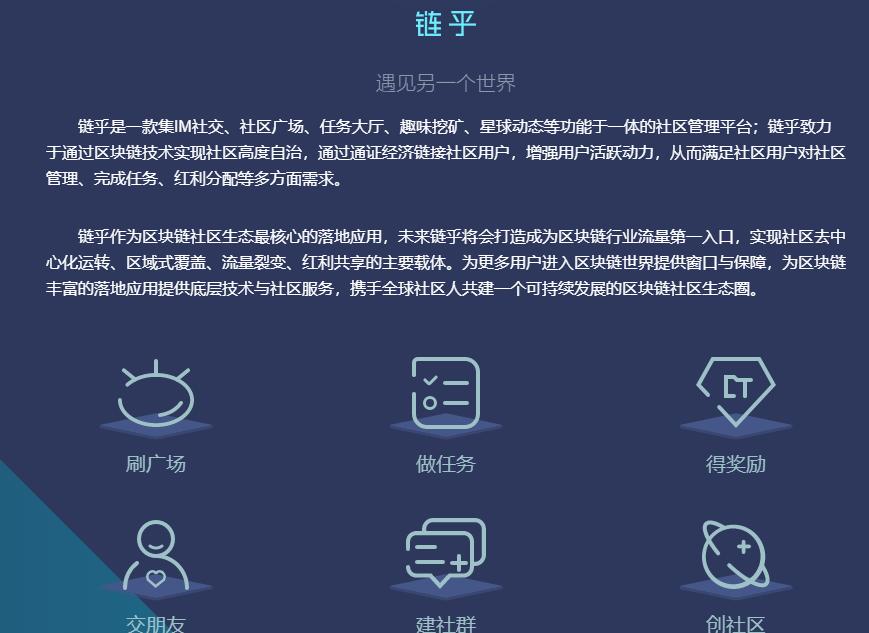 链乎 – 全球首款区块链社区管理平台,注册送30矿力,邀请送10矿力